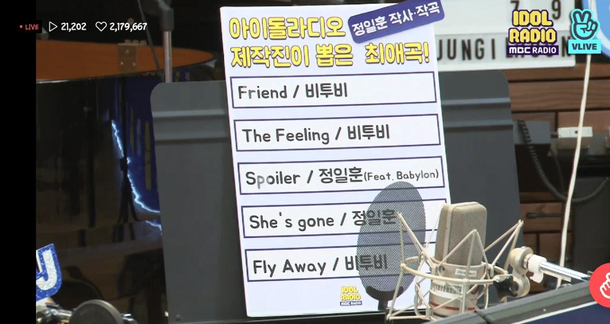 idol radio btob ilhoon songs
