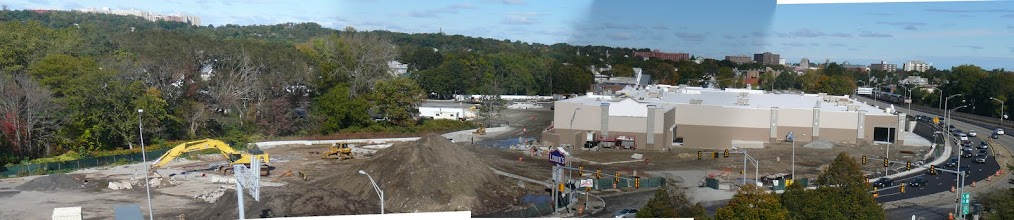 Photo: Panoramic of Lowes under Construction shot from Quincy Adams T station, Oct 16, 2010