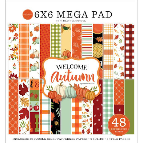 Carta Bella Double-Sided Mega Paper Pad 6X6 - Welcome Autumn