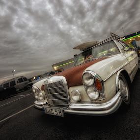 Benz me by Matthias Weigel - Transportation Automobiles ( sonnenuntergang, regensburg, ccm, hdr, classic car meet, vinz kustomz, hotrod, nacht, oldtimer, pentling )