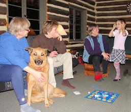 Photo: Linda with Kiona, Elizabeth, Mary-Carter, Little Celia. (Love Mary-Carter's socks! Little Celia's too!)