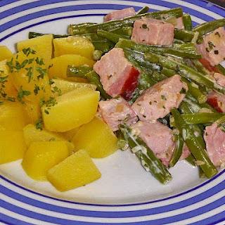 Kassler Steak Recipe – Smoked Pork Chops with Green Beans.