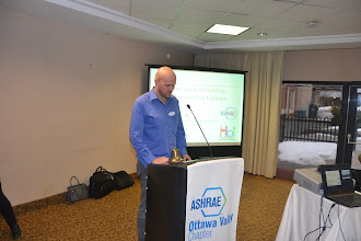 Photo: Carleton Professor William O'Brien talking about how the ASHRAE grant money is used