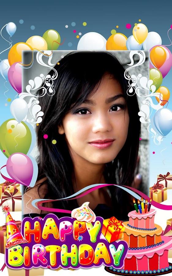 happy birthday photo frame screenshot