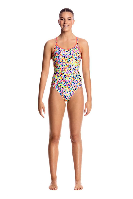 Funkita Ladies Diamond Back One Piece Hex On legs - FS11L01684