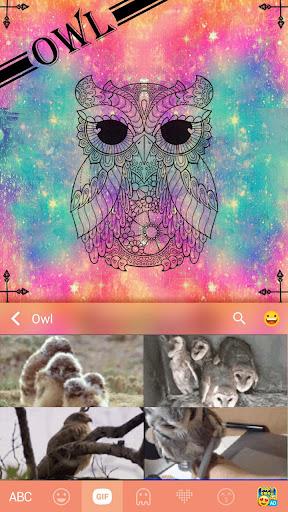Owl Keyboard Theme – Delicate & Stylish Wallpaper Screenshot