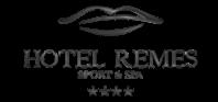 Logotyp hotelu remes gdzie byla kladziona trzcina