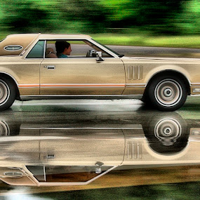 Lincoln Continental by Axel K. Böttcher - Transportation Automobiles ( reflection, lincoln, wet street, speed, continental )