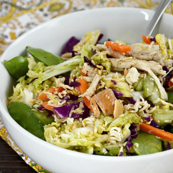 Napa Cabbage Chicken Salad with Ramen