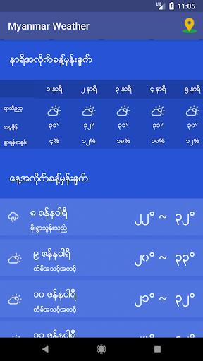 Myanmar Weather App 1.0 screenshots 6