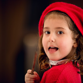 Live view by Plamen Stanchev - Babies & Children Child Portraits ( red, girl, lady, smile, toddler, pretty, young, eyes )