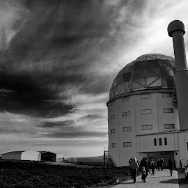 SALT telescope by Reon Rich - Black & White Buildings & Architecture ( northern cape, sutherland, south africa, telescope, salt )
