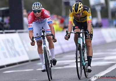 """Mathieu van der Poel vierde winst Ronde van Vlaanderen met ploeg: """"Het was stevig, ja"""""""