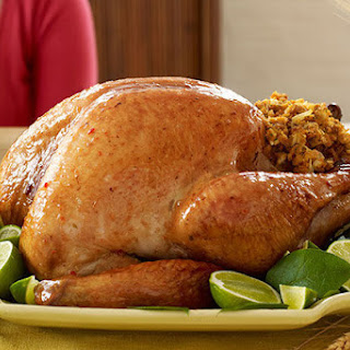Honey-Lime Glazed Turkey with Stuffing