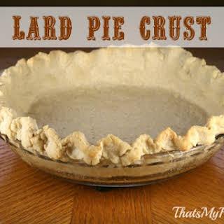 Lard Pie Crust.