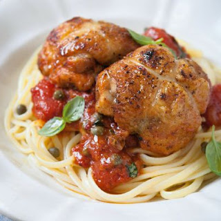 Chicken Puttanesca with Linguine Recipe