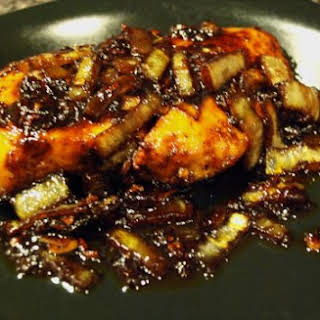 Balsamic Chicken with Onions.