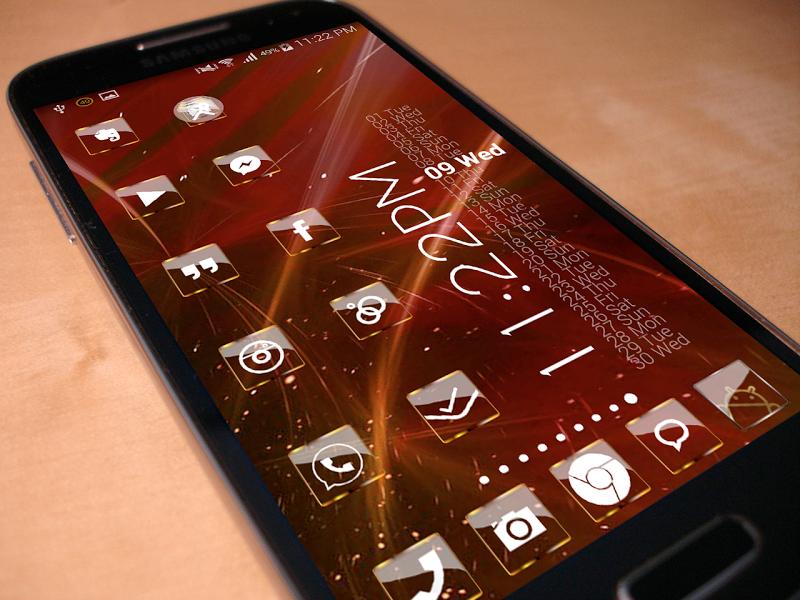 Golden Glass Nova Launcher theme Icon Pack Screenshot 3