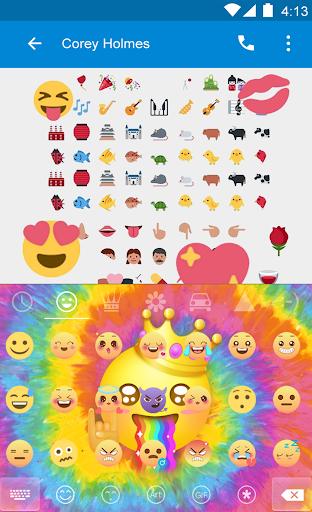 玩免費遊戲APP|下載Happy TieDye Emoji Keyboard app不用錢|硬是要APP
