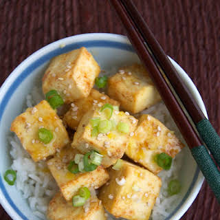 Roasted Tofu in Lemon Sauce.