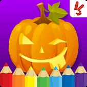 Kids coloring book halloween