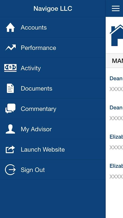 Navigoe Mobile Advisor- screenshot
