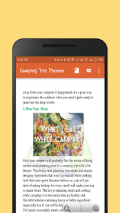 camping trip planner apps on google play