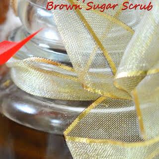 Easy Homemade Brown Sugar Scrub.