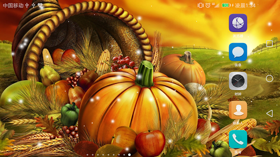 2017 Happy Thanksgiving Live Wallpaper HD - náhled