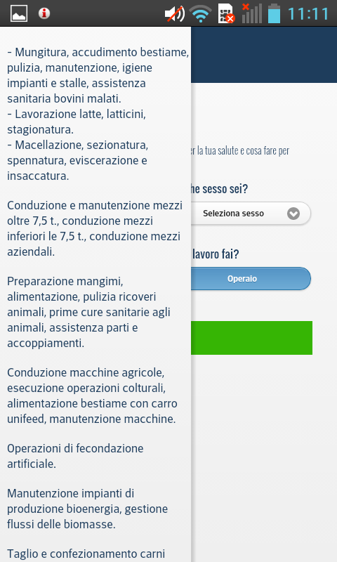 Malattie Professionali- screenshot