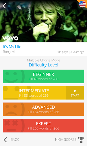 LyricsTraining - Learn English, Spanish, French... 0.9.4 screenshots 6