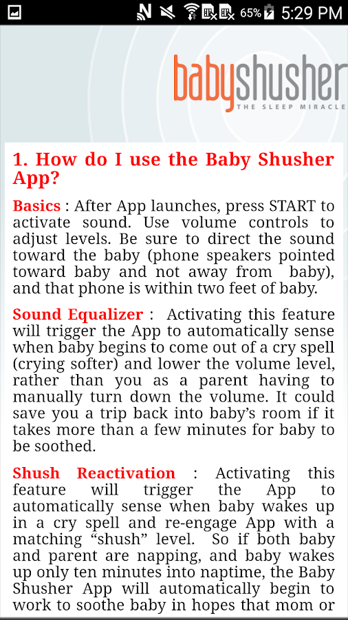 Baby Shusher- screenshot
