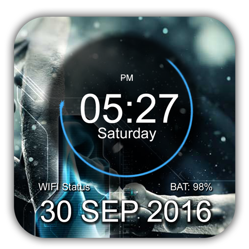 Digital Clock Animated