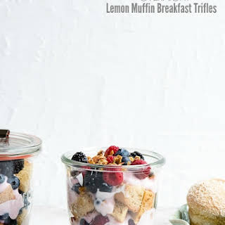 Overnight Lemon Muffin Breakfast Trifles.