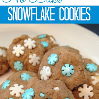 No Bake Snowflake Cookies