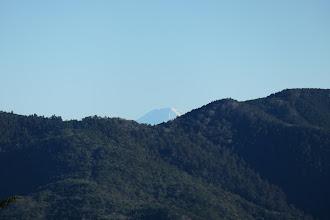 富士山が少しだけ見える