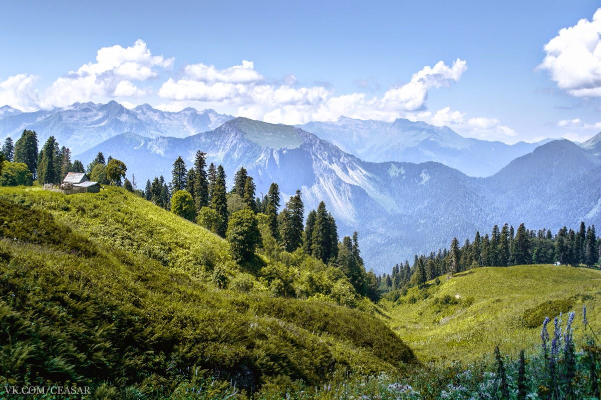 Абхазия, Рица, Горные балаганы, Альпийские луга