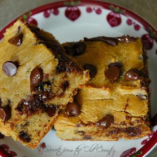 Gluten Free Chickpea Chocolate Chip Blondies Recipe