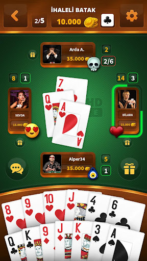 Spades -Batak HD Online 1.021 screenshots 4