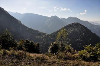Photo: Le Dhupi bhanjyang vu depuis la montée au Lasiya bhanjyang
