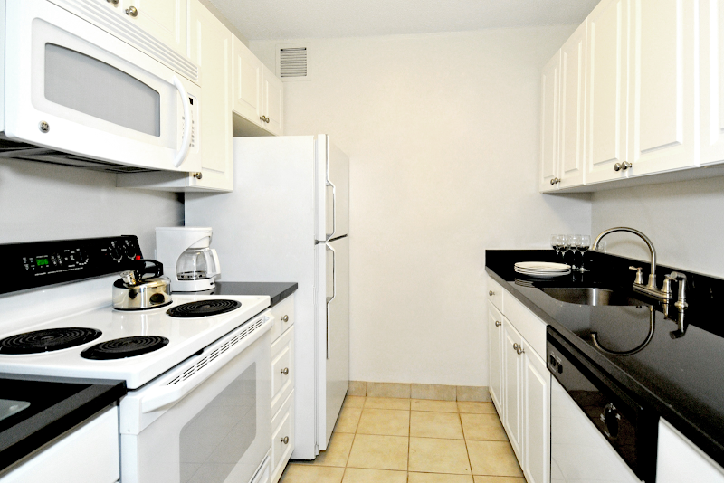 Kitchen at Midtown East apartment