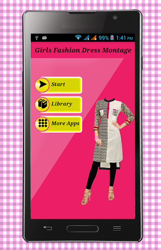 Girls Fashion Dress Montage