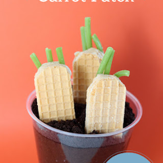 Carrot Patch Pudding Cups, perfect for Easter!.