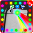 Color flashlight on call and sms: Flashlight alert