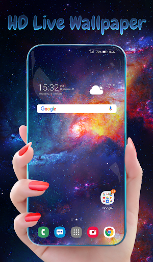 Stardust Live Wallpaper & Animated Keyboard screenshot 1