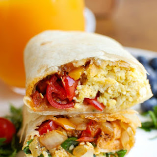 Vegetarian Breakfast Egg Burritos.