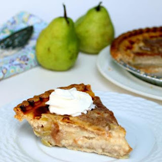 Pear Custard Pie.