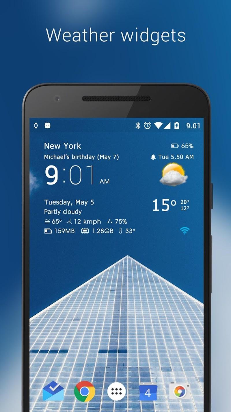 Transparent clock weather Pro Screenshot 16