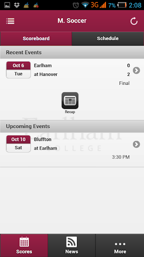 Earlham Athletics Front Row