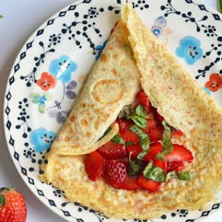 Strawberry Basil Whole Grain Crepes.